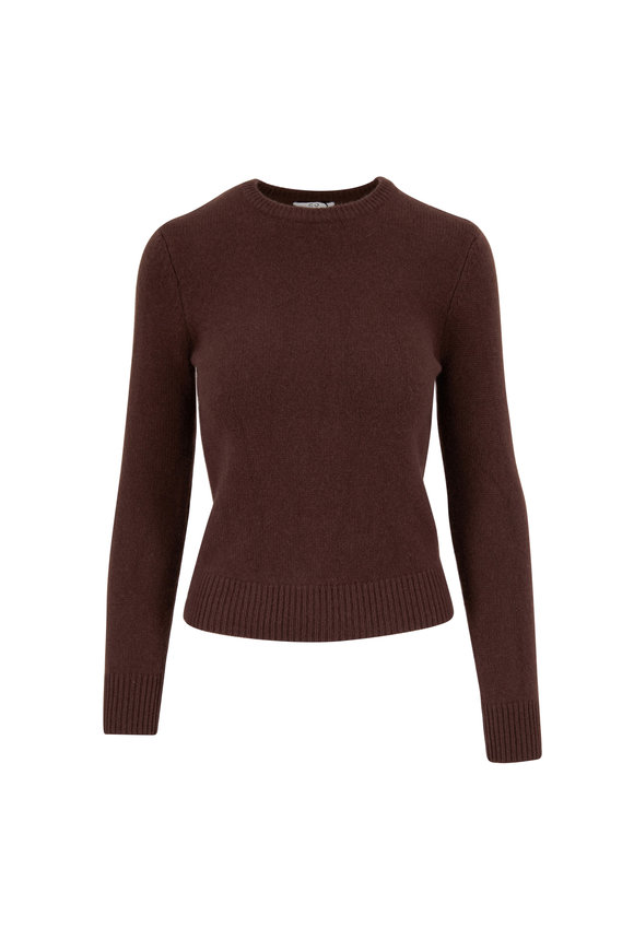 CO Collection Brown Cashmere Crewneck Sweater