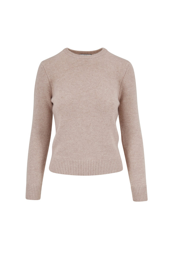CO Collection Sand Cashmere Crewneck Sweater