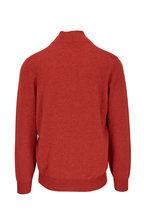 Brunello Cucinelli - Dark Orange Cashmere Quarter Zip Pullover