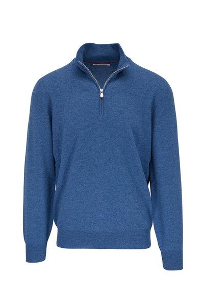 Brunello Cucinelli - Waves Cashmere Quarter Zip Pullover