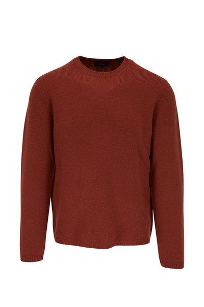 Vince - Ceramic Red Cashmere Crewneck Sweater