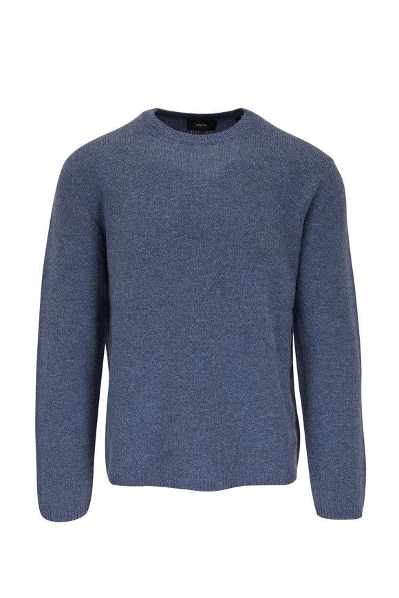 Vince Baja Blue Cashmere Crewneck Sweater