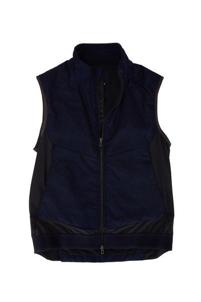 Sease - Predator Navy Blue Front Zip Vest