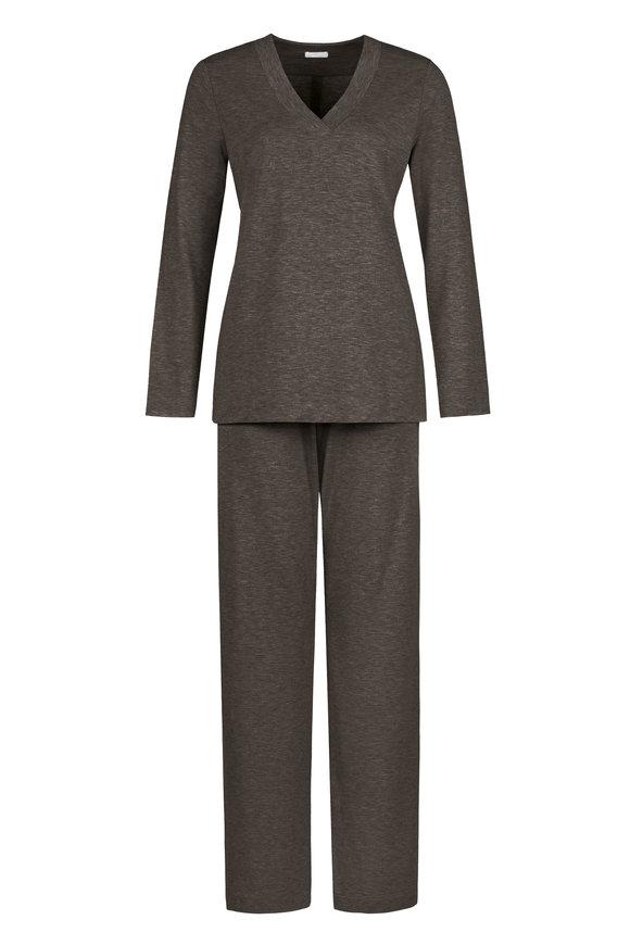 Hanro  Gray Viscose Champagne Pajama Set