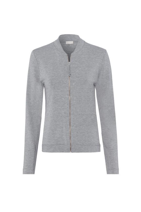 Hanro  Balance Gray Front Zip Jacket