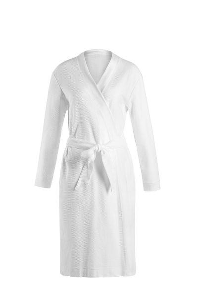 Hanro - White Cotton Waffle Piqué Robe