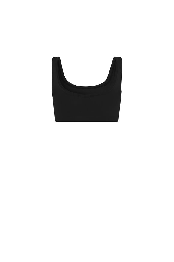 Hanro  Black Touch Feeling Crop Top Tank