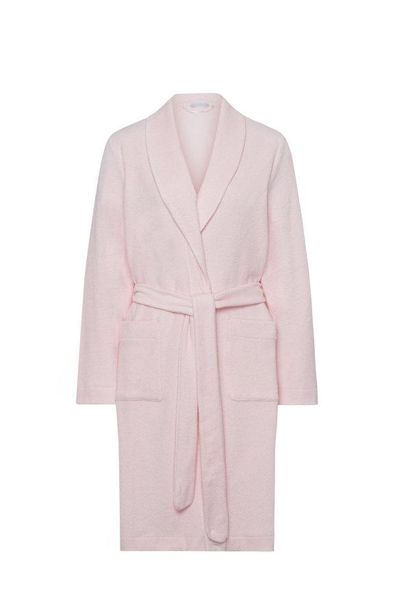 Hanro  Rose Plush Robe With Tie Belt