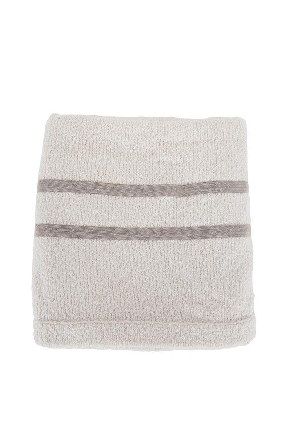 Brunello Cucinelli Vanilla Wool Blend Throw Blanket
