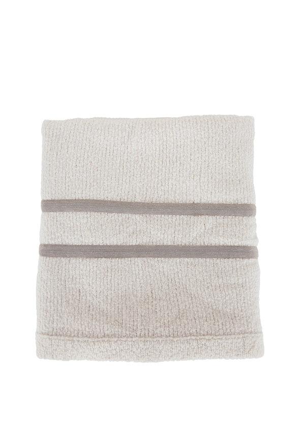 Brunello Cucinelli Fog Wool Blend Throw Blanket