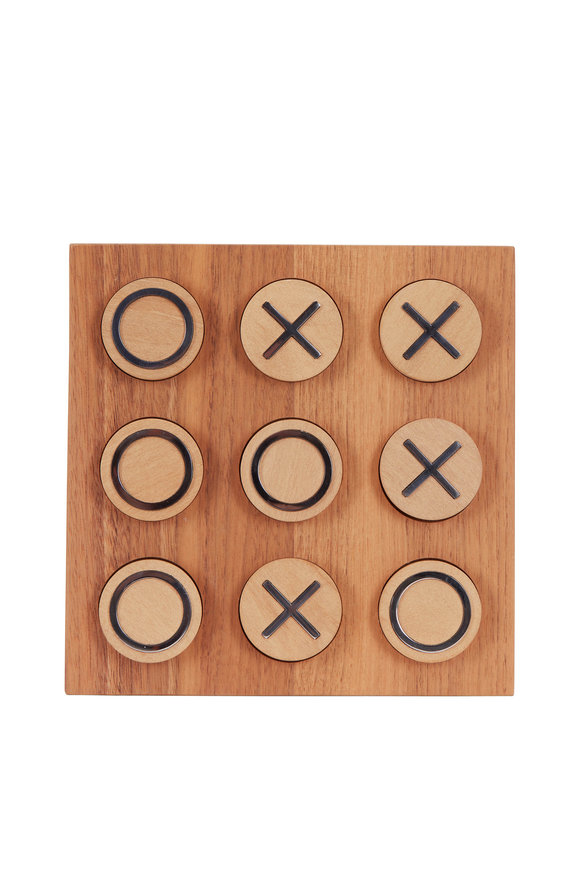 Brunello Cucinelli Walnut Wood Tic-Tac-Toe Set