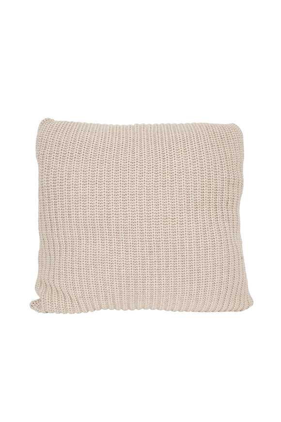 Brunello Cucinelli Butter Cashmere Large Pillow