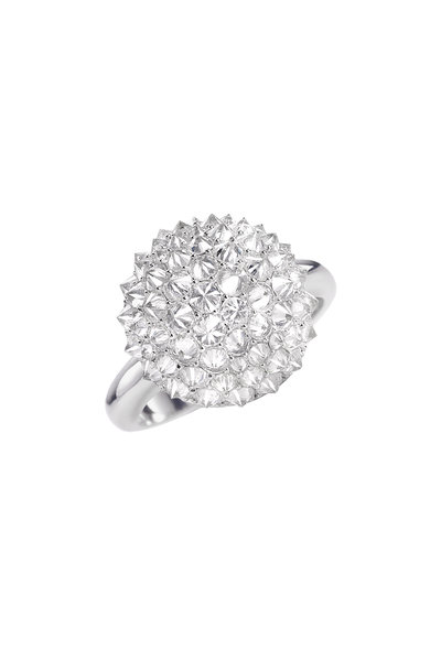 Nam Cho - 18K White Gold Diamond Ball Ring