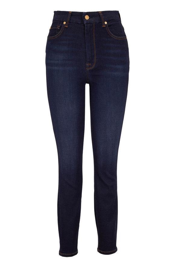 7 For All Mankind Denim High-Rise Ankle Skinny Jean