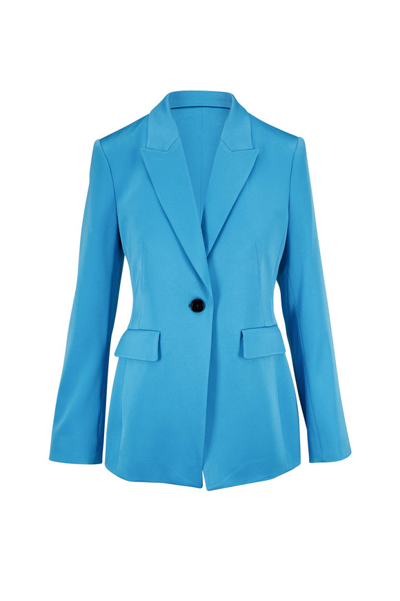 Dorothee Schumacher Classy Turquoise Statement Jacket