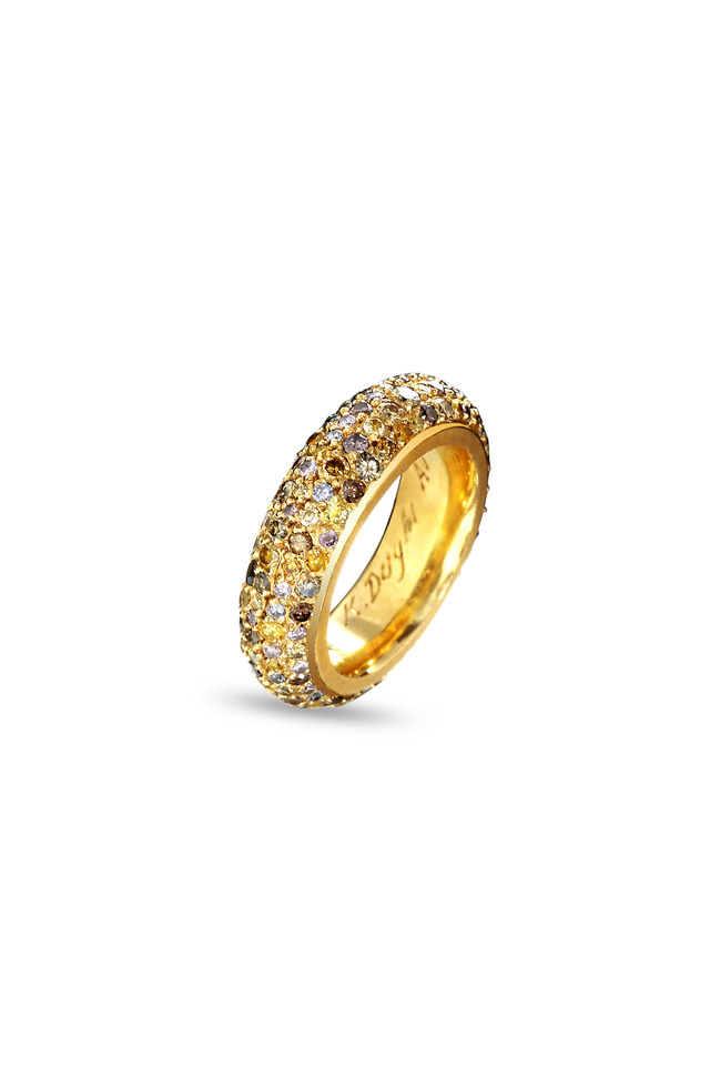 Yellow Gold Fancy Diamond Ring