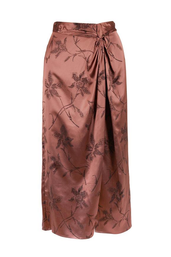 Vince Mauve Orchid Twist Front Skirt