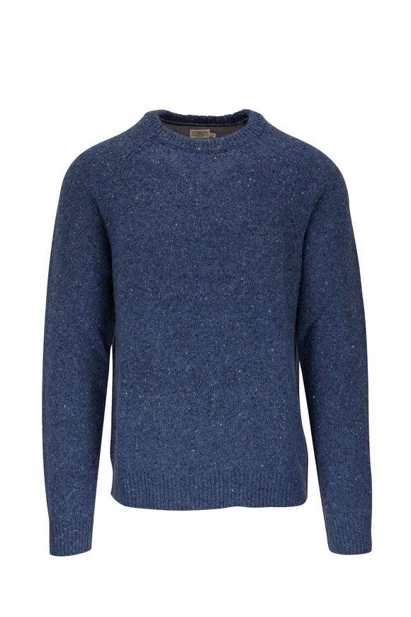 Faherty Brand Deep Sea Flecked Crewneck Sweater