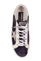Golden Goose - Superstar Night Blue Suede & Ice Star Sneaker