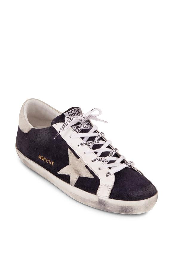 Golden Goose Superstar Night Blue Suede & Ice Star Sneaker