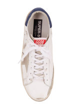 Golden Goose - Superstar White Leather & Light Grey Star Sneaker