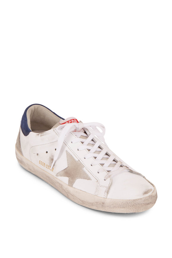 Golden Goose Superstar White Leather & Light Grey Star Sneaker