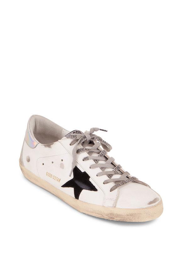 Golden Goose Superstar Black Star & Metallic Heel Sneaker
