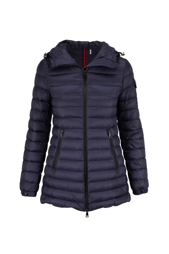 Moncler Navy Blue A-Line Puffer Jacket