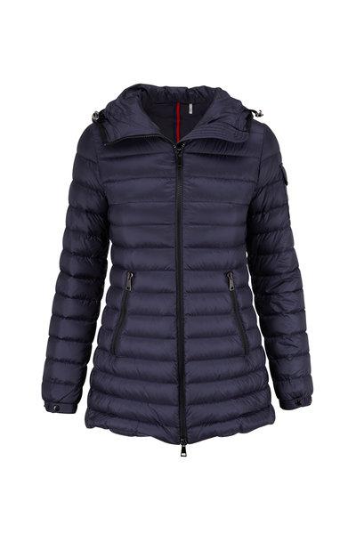 Moncler - Navy Blue A-Line Puffer Jacket