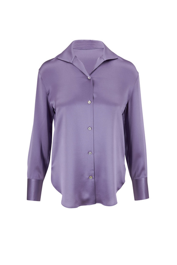 Vince Aurora Lavender Silk Blouse