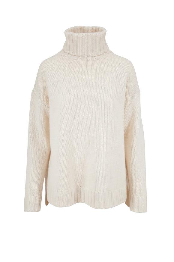 Nili Lotan Brently Ivory Oversized Cashmere Sweater