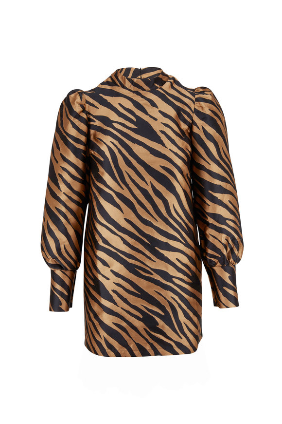 Andamane Elisa Zebra Stripe Mini Dress