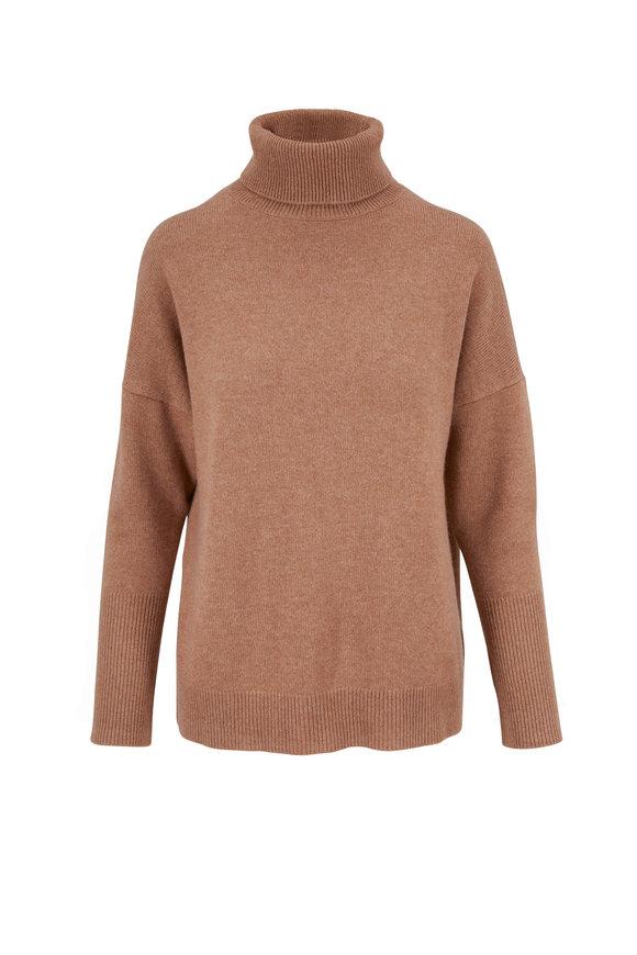 Chinti & Parker Camel Cashmere Turtleneck Sweater
