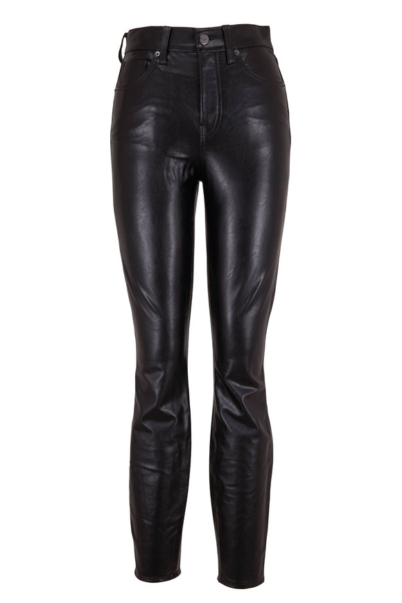 Veronica Beard Debbie Black Vegan Leather Jean