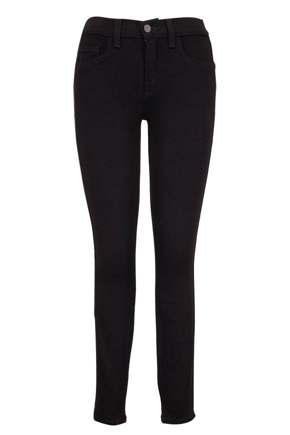 Veronica Beard Emma Onyx Mid-Rise Skinny Tux Stripe Jean