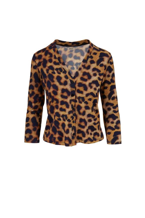 L'Agence Britney Leopard Cardigan