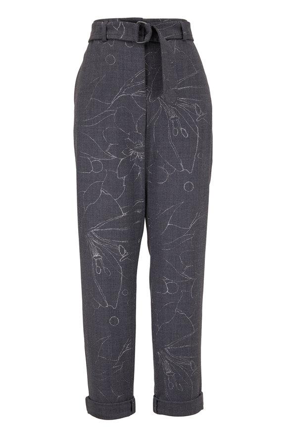 Akris Punto Fallon Graphite Belted Trousers