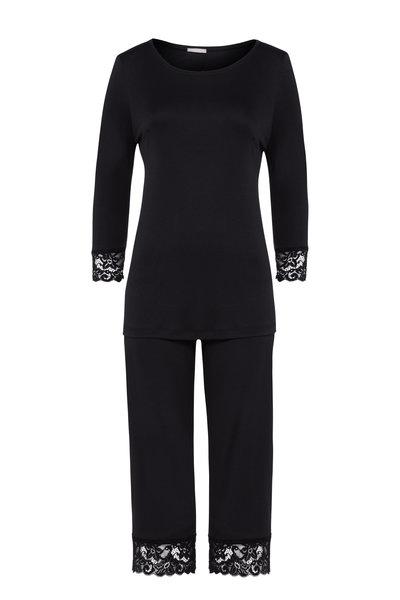 Hanro - Black Moments Long Sleeve Cropped Pajama Set