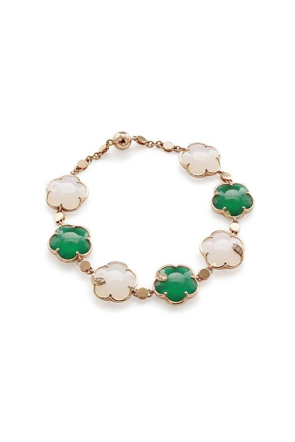 Pasquale Bruni 18K Rose Gold Green Ton Joli Bracelet