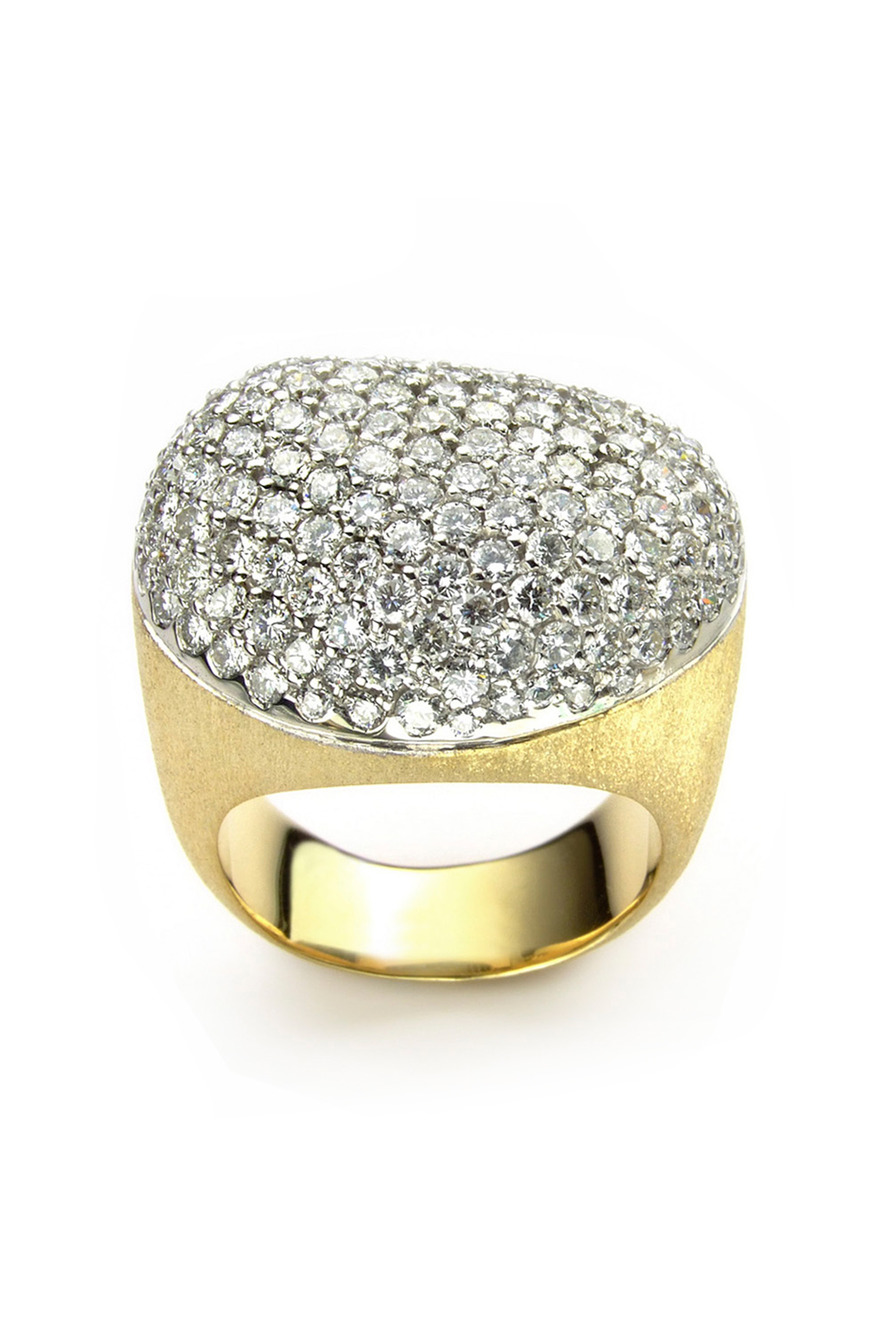 Diamond Golden Stone Ring