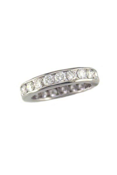Oscar Heyman - Platinum Diamond Channel Guard Ring