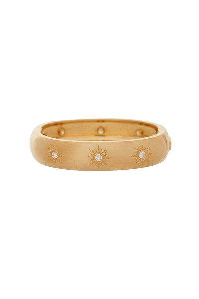 Caroline Ellen - Yellow Gold Sunburst Diamond Ring