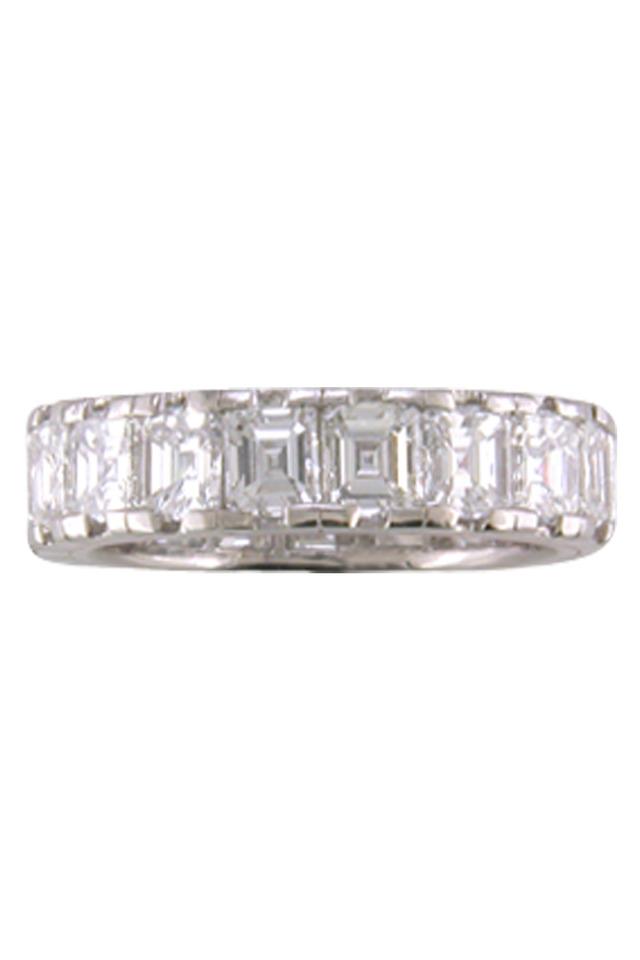 Diamond Platinum Guard Ring