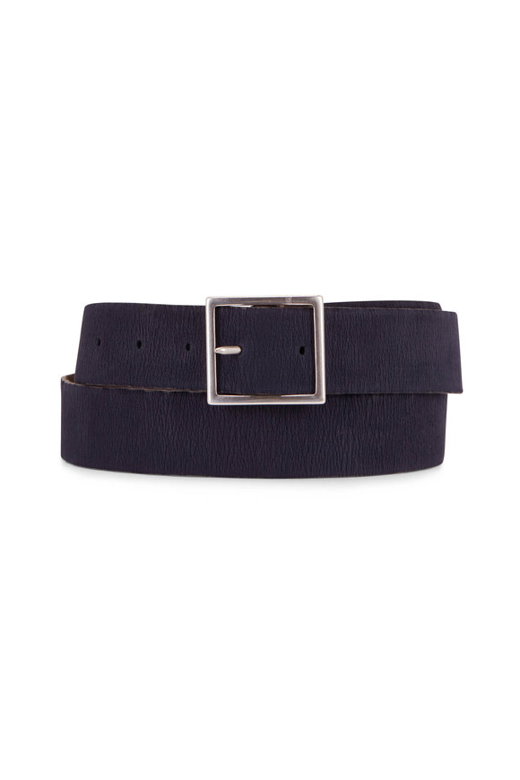 Orciani  Calico & River Reversible Grained Leather Belt