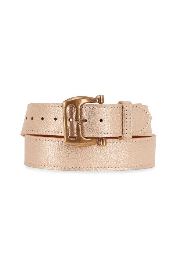 Kim White Gold Metallic Belt