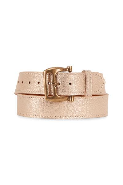 Kim White - Gold Metallic Belt