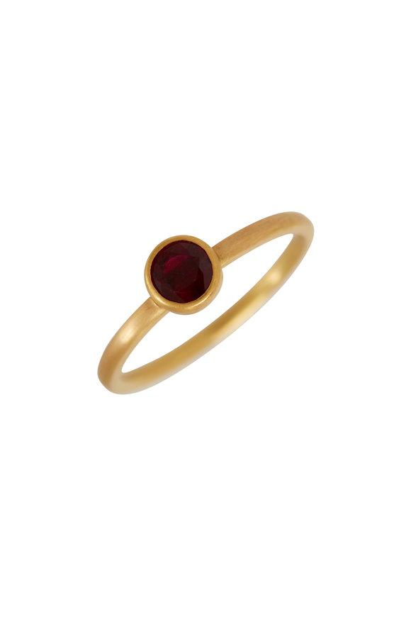 Caroline Ellen 22K/20K Yellow Gold African Ruby Ring