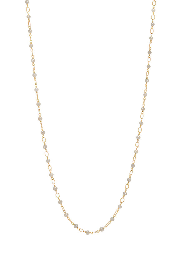 Caroline Ellen Gray Diamond Rondelle Wrap Necklace