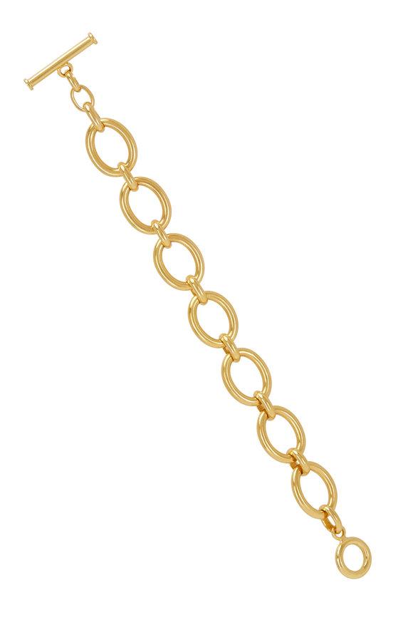 Caroline Ellen 20K Yellow Gold XL Oval Link Bracelet
