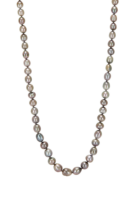 Caroline Ellen 20K Yellow Gold Tahitian Keshi Pearl Necklace